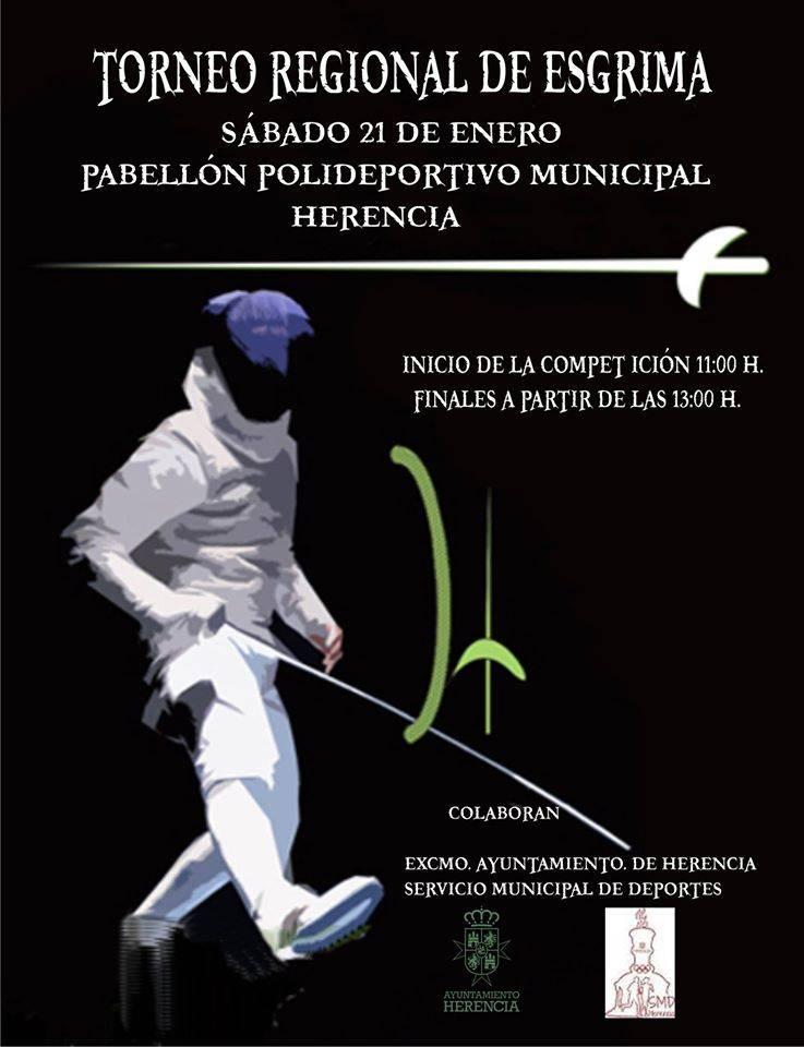 torneo regional de esgrima en Herencia 2017