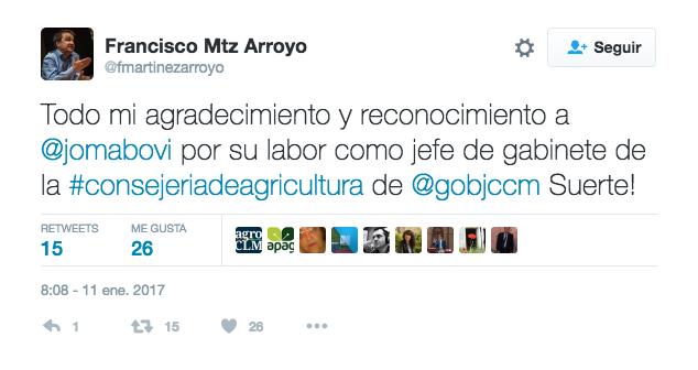 Twitter de Francisco Martinez Arroyo.
