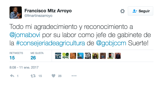 Twitter de Francisco Martinez Arroyo.