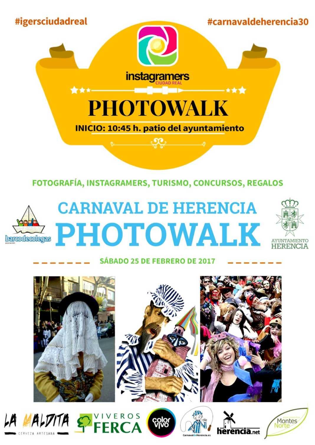 Cartel Photowalk Instagramers Carnaval de Herencia 1068x1510 - El Carnaval de Herencia será punto de encuentro para los instagramers