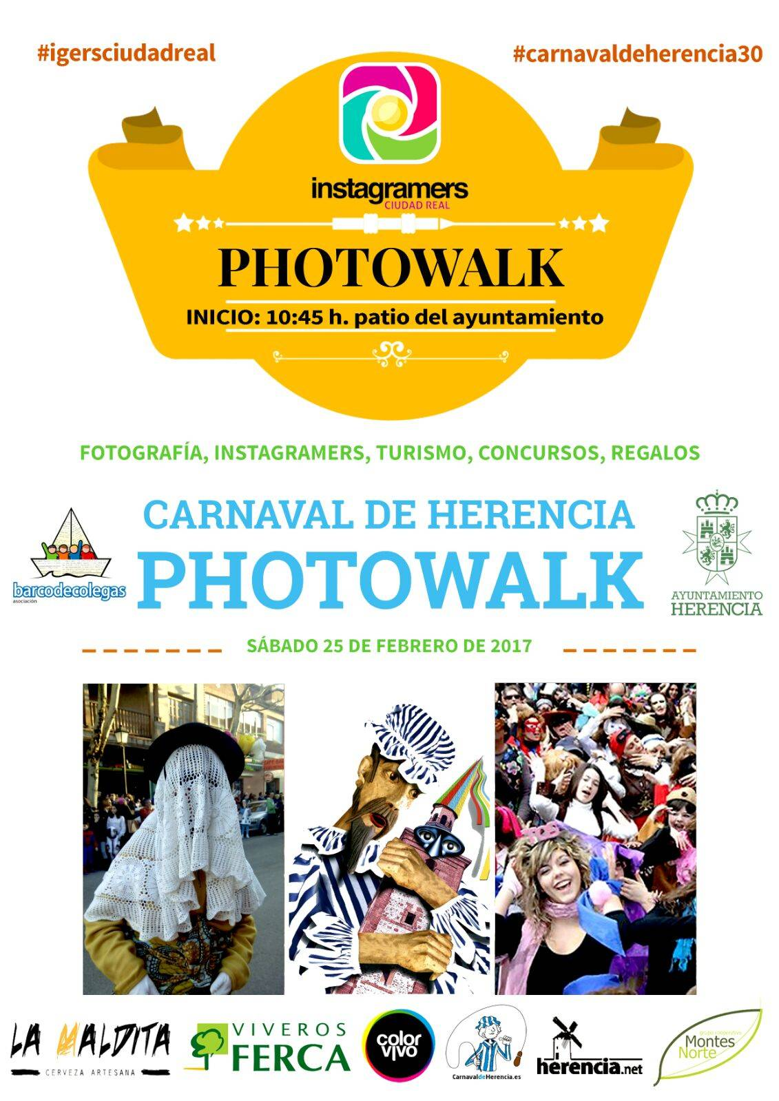 Cartel Photowalk Instagramers Carnaval de Herencia - El Carnaval de Herencia será punto de encuentro para los instagramers