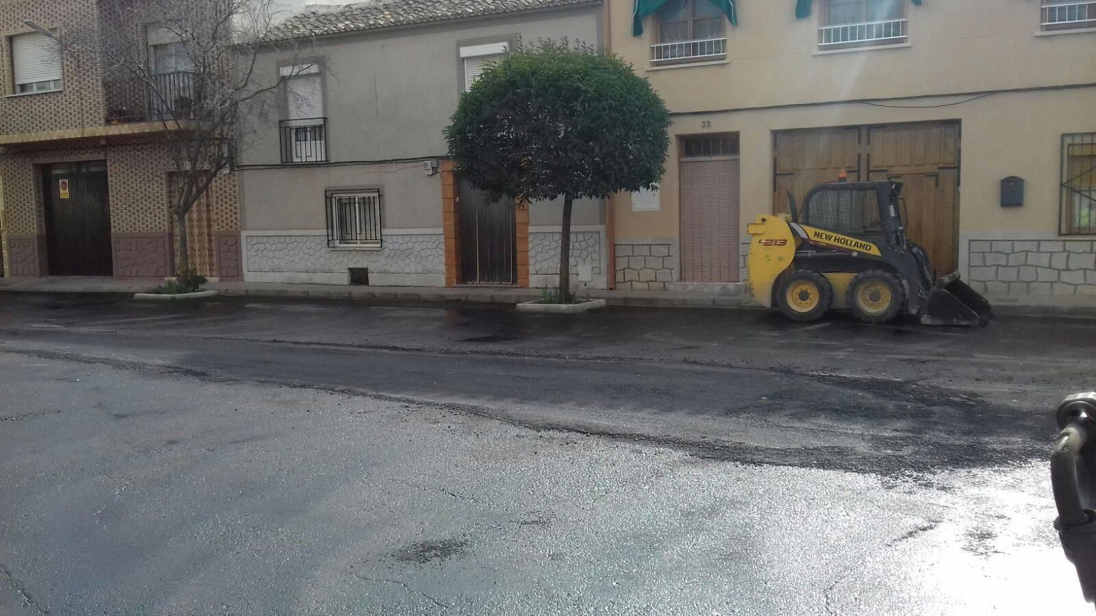 asfaltando de calle cruces herencia - Finalizada la remodelación de la intersección de calle Cruces
