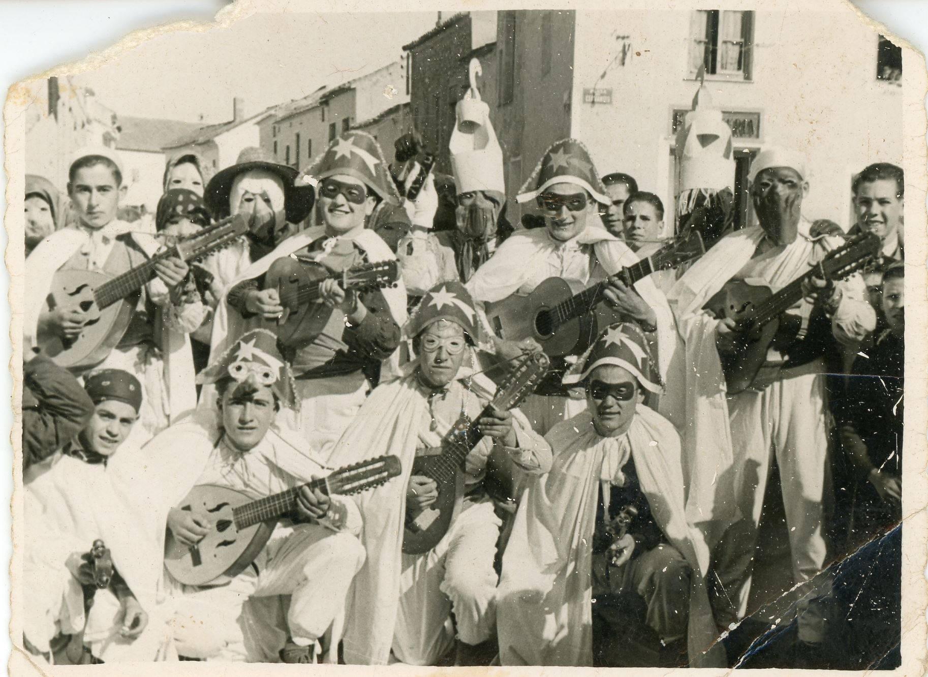carnaval de herencia rondalla los litros decada 1950 - Más fotografías antiguas de Carnaval de Herencia