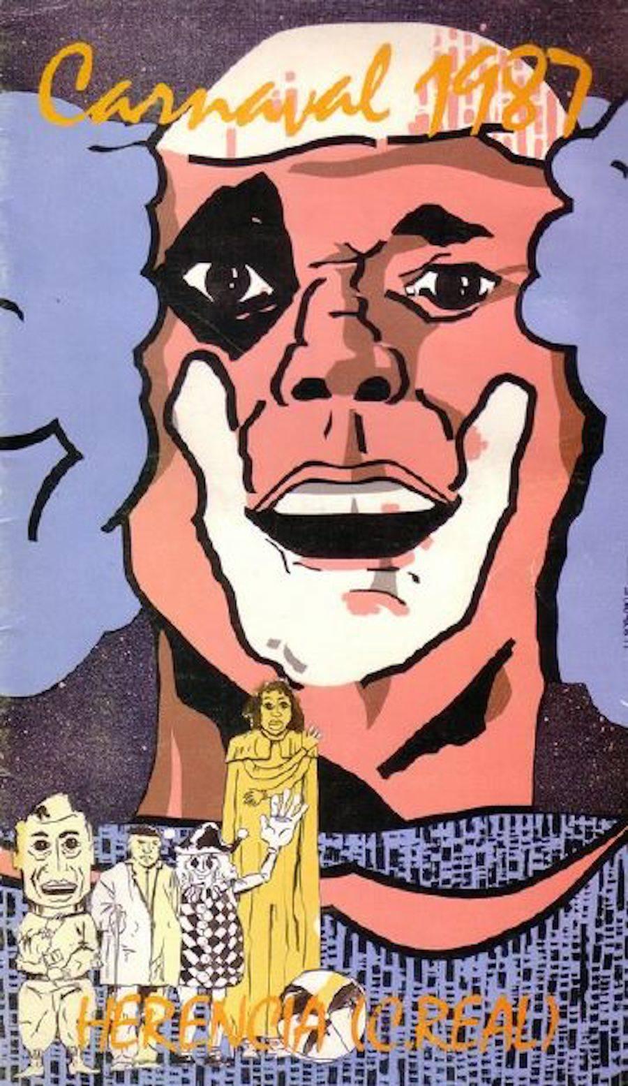 cartel carnaval 1987 - De nuevo carnavaleando por febrero