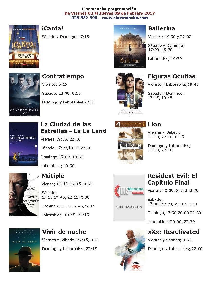 Cartelera Cinemancha del 03 al 09 de febrero 1