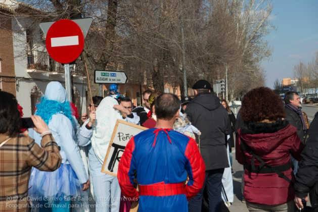 Un Perlé de más de tres metros da la bienvenida al Carnaval de Herencia 16