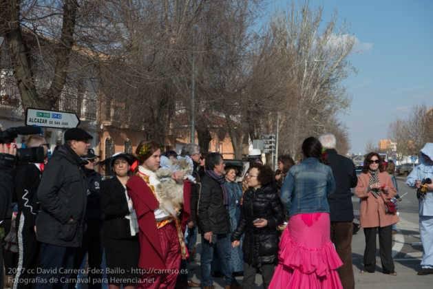 Un Perlé de más de tres metros da la bienvenida al Carnaval de Herencia 21