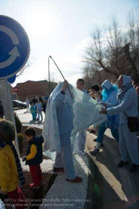 Un Perlé de más de tres metros da la bienvenida al Carnaval de Herencia 35