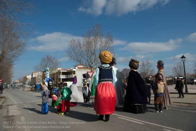 Un Perlé de más de tres metros da la bienvenida al Carnaval de Herencia 8