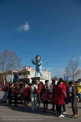 Un Perlé de más de tres metros da la bienvenida al Carnaval de Herencia 79