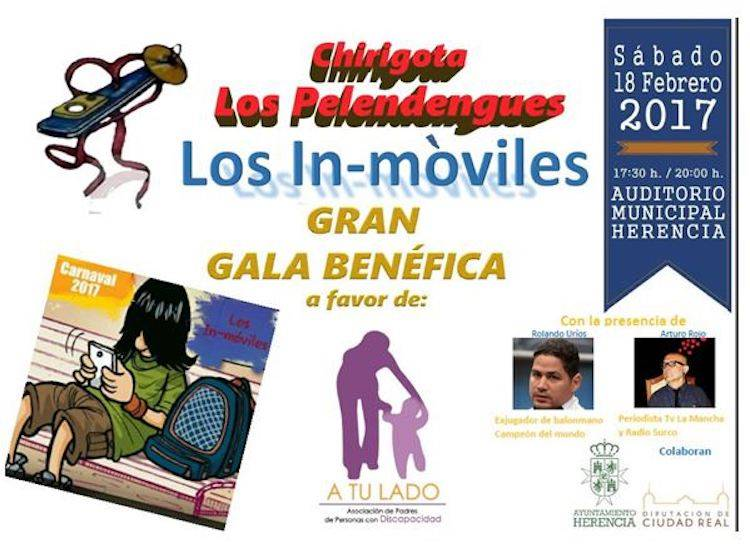 gala benefica pelendengues 2017 - La Chirigota Los Pelendengues organiza de nuevo una gala benéfica el próximo 18 de febrero