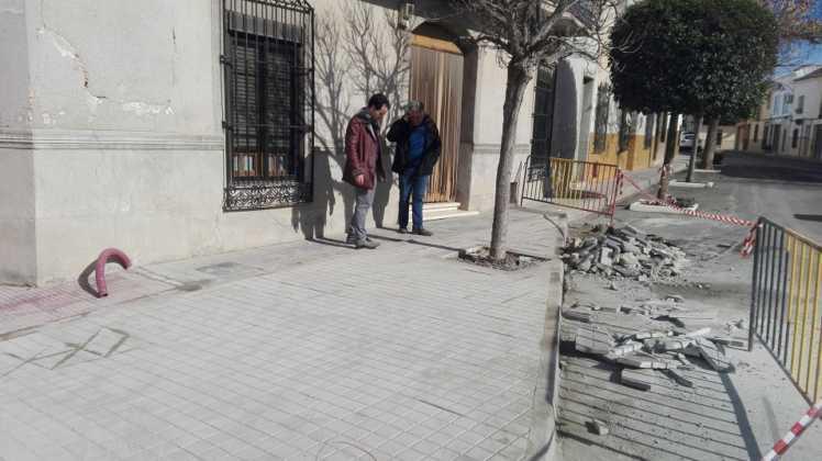 obras en interseccion calle cruces herencia 1 748x420 - Remodelación de la intersección de la calle Cruces en Herencia