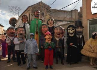 Perle, gigantes y cabezudos de Carnaval de Herencia