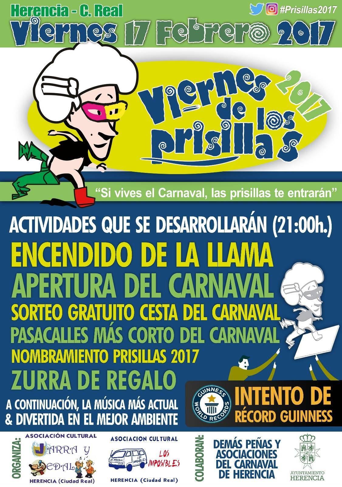 viernes de los prisillas 2017 carnaval de herencia - Abierta la votación para el Prisillas 2017 del Carnaval de Herencia