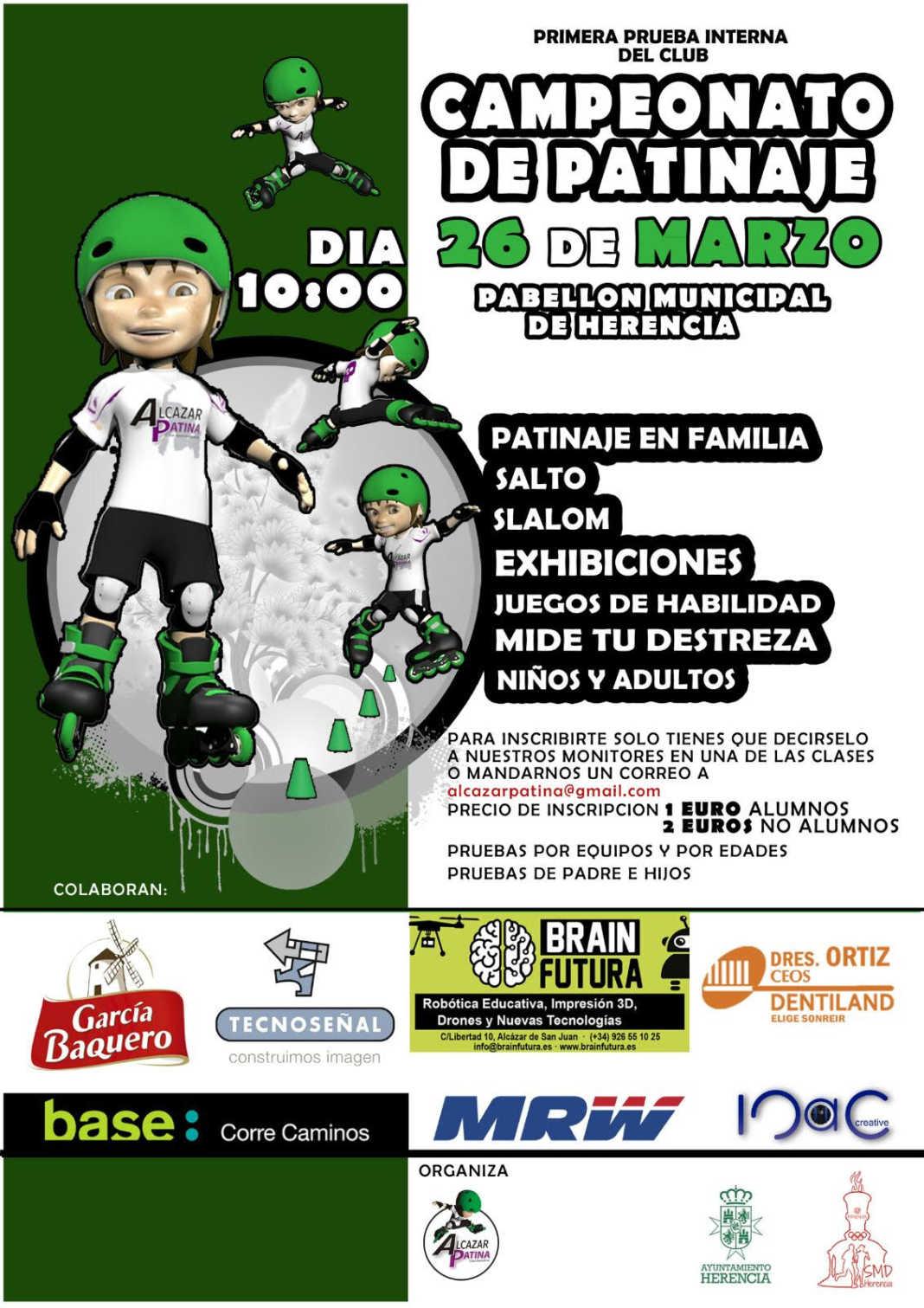El próximo 26 de marzo tendrá lugar un campeonato de patinaje 2