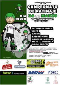 El próximo 26 de marzo tendrá lugar un campeonato de patinaje 1