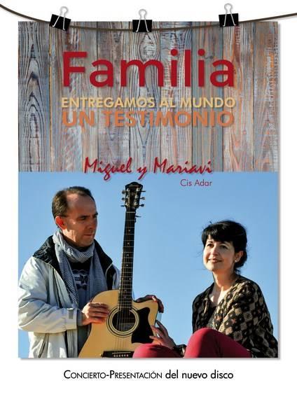 """Cartel presentación disco familia 1 - Cis Adar participó en el encuentro """"Familias Invencibles"""" de Guadarrama"""