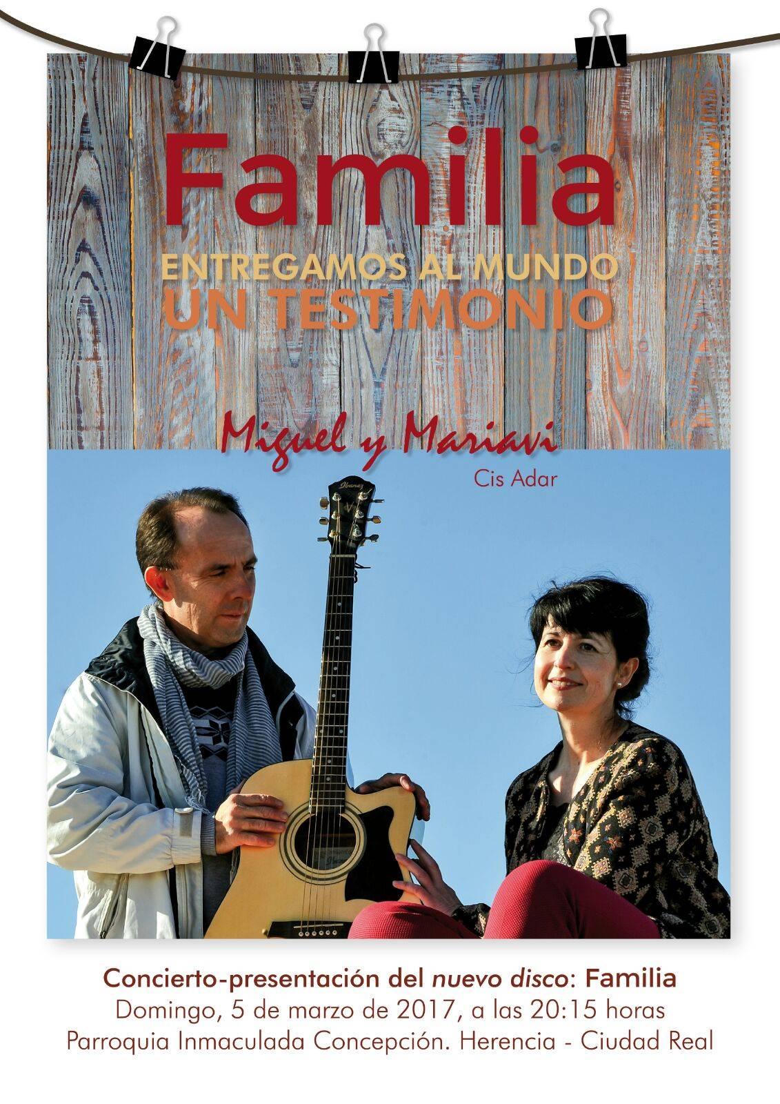 Concierto presentación Familia cuarto disco de Cis Adar - Cis Adar presenta su cuarto disco en la parroquia de Herencia