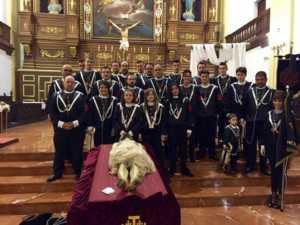 Banda CCTT Santo Entierro 300x225 - Besapié al Cristo Yacente de la cofradía del Santo Entierro 2017