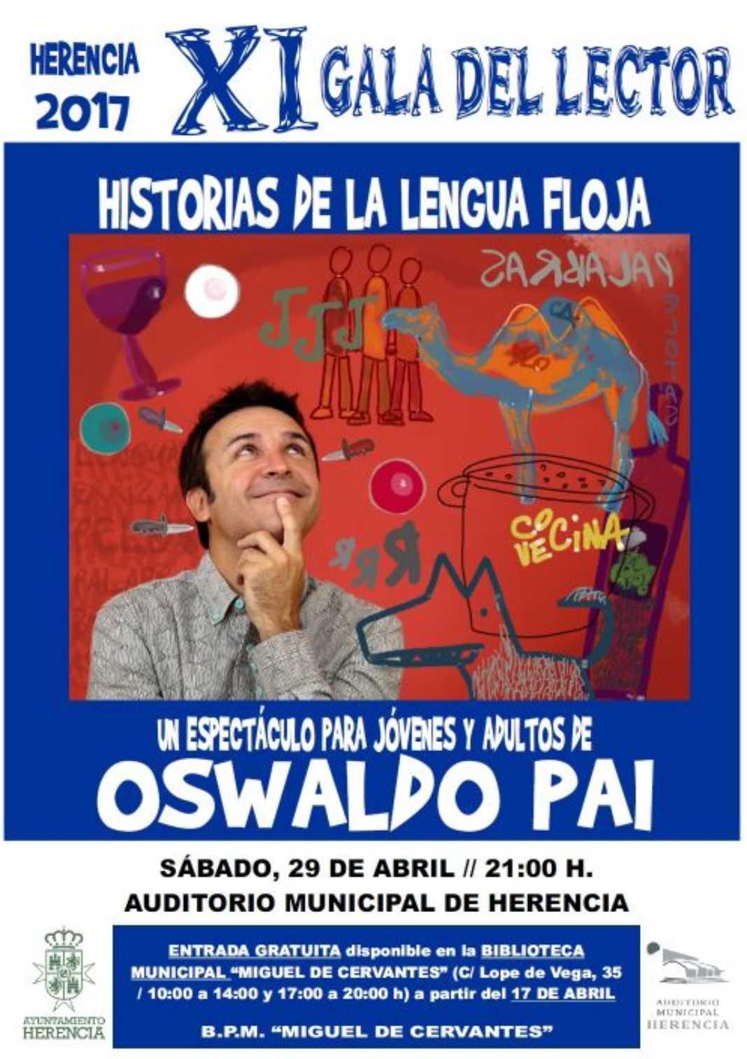 Oswaldo Pai en la XI Gala del Lector de Herencia 4
