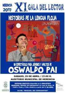 CARTEL XI GALA DEL LECTOR 212x300 - Oswaldo Pai en la XI Gala del Lector de Herencia