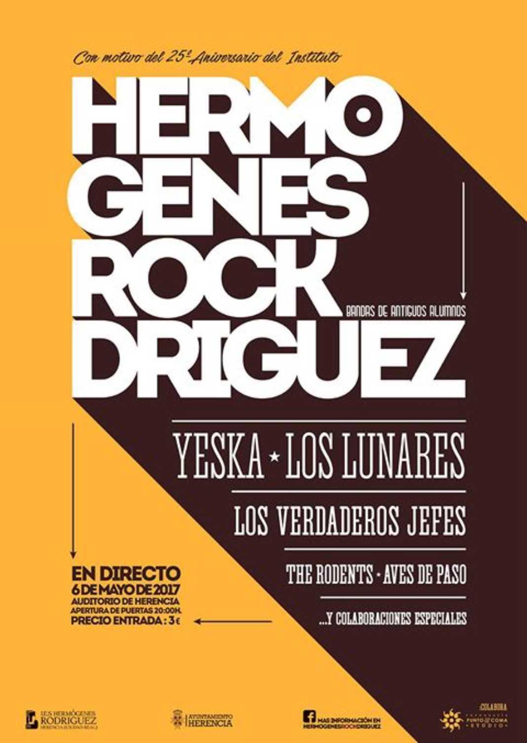 """Ya puedes adquirir las entradas para el Concierto """"Hermógenes ROCKdríguez"""" del 6 de mayo 2"""