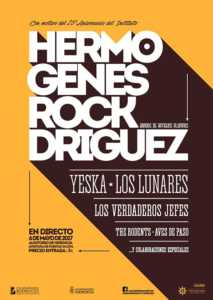 """CONCIERTO Hermógenes ROCKdríguez 213x300 - Ya puedes adquirir las entradas para el Concierto """"Hermógenes ROCKdríguez"""" del 6 de mayo"""