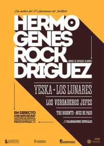 """Ya puedes adquirir las entradas para el Concierto """"Hermógenes ROCKdríguez"""" del 6 de mayo 1"""