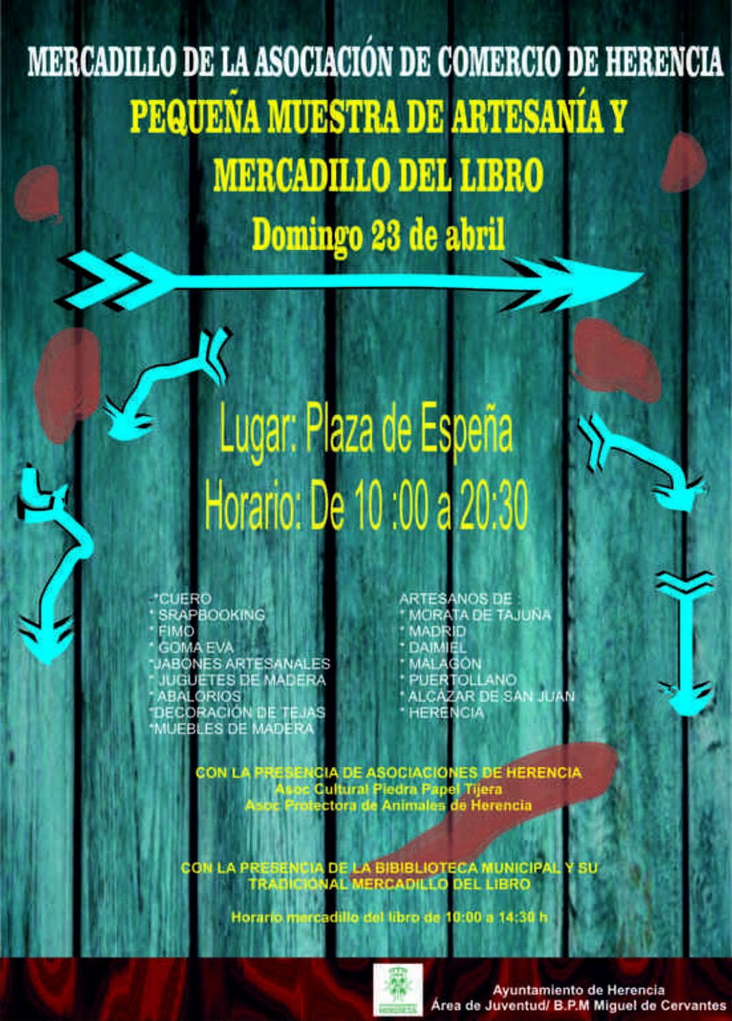 Cartel rastrillo de primavera 1068x1489 - Artesanía y libros junto al Mercadillo del Comercio