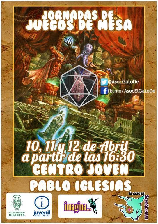 Cartel Juegjos deMesa - Jornadas de Juegos de Mesa para esta Semana Santa