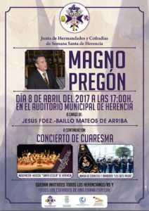 Magno Preg%C3%B3n Semana Santa 2017 212x300 - Jesús Fernández-Baillo Mateos de Arriba dará el Magno Pregón de Semana Santa 2017