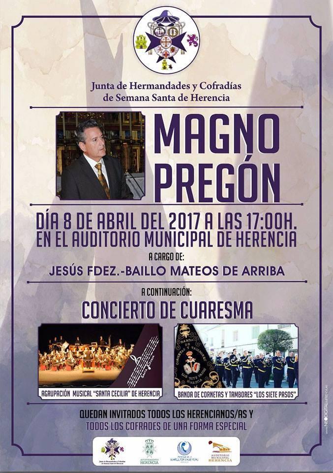Magno Pregón Semana Santa 2017 - Jesús Fernández-Baillo Mateos de Arriba dará el Magno Pregón de Semana Santa 2017