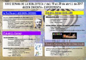 Semana de la Biblioteca 2017. Del 19 al 29 de abril 3