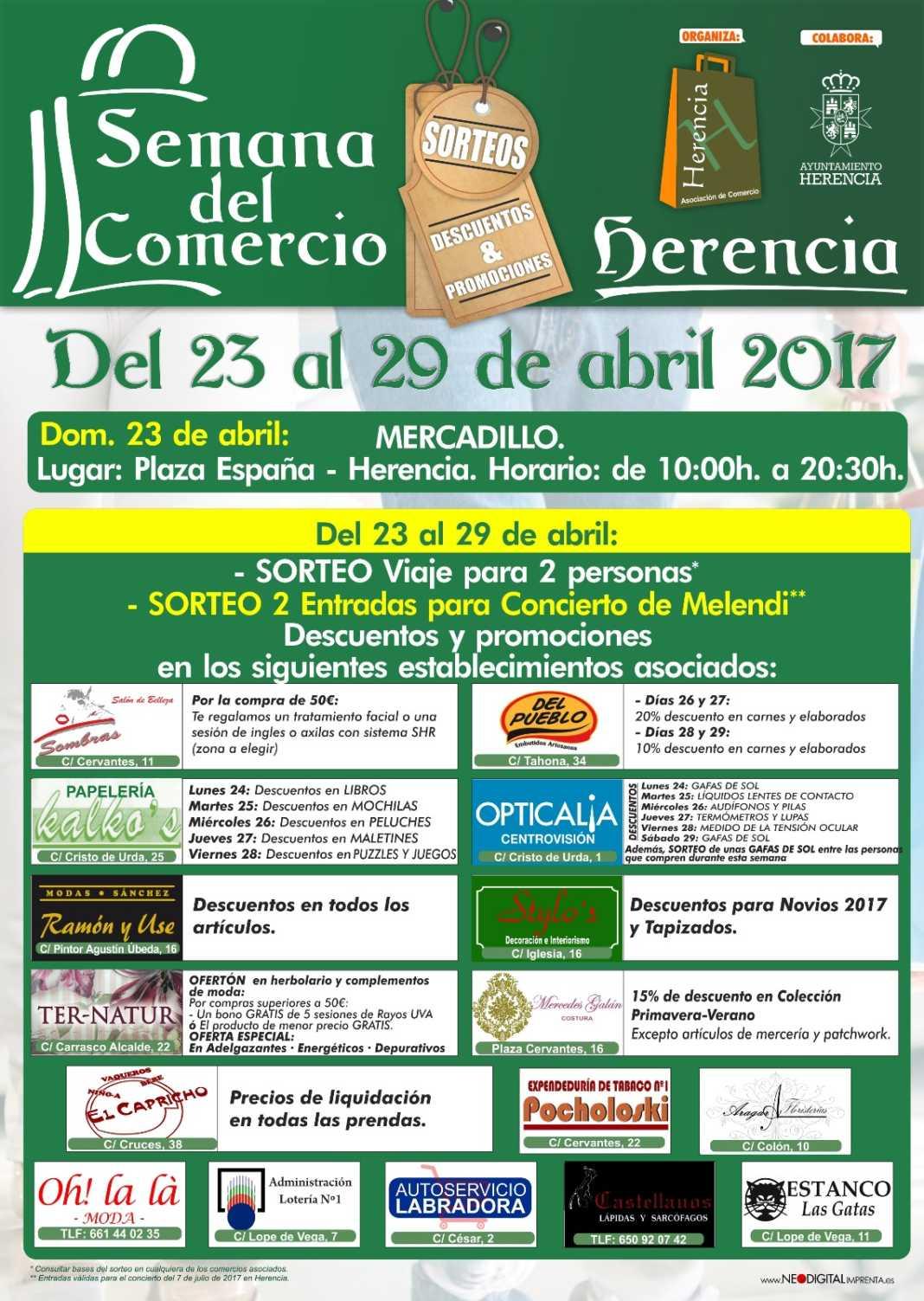 Semana del Comercio en Herencia. Del 23 al 29 de abril. 2