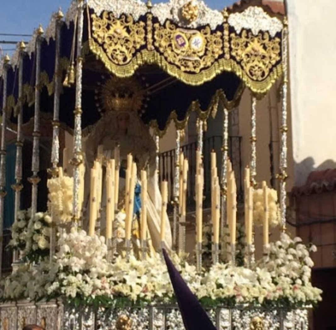 """Virgen de la Amargura de Herencia 1068x1049 - """"Los Moraos"""" piden la colaboración de sus hermanos para la reestructuración de su Semana Santa"""