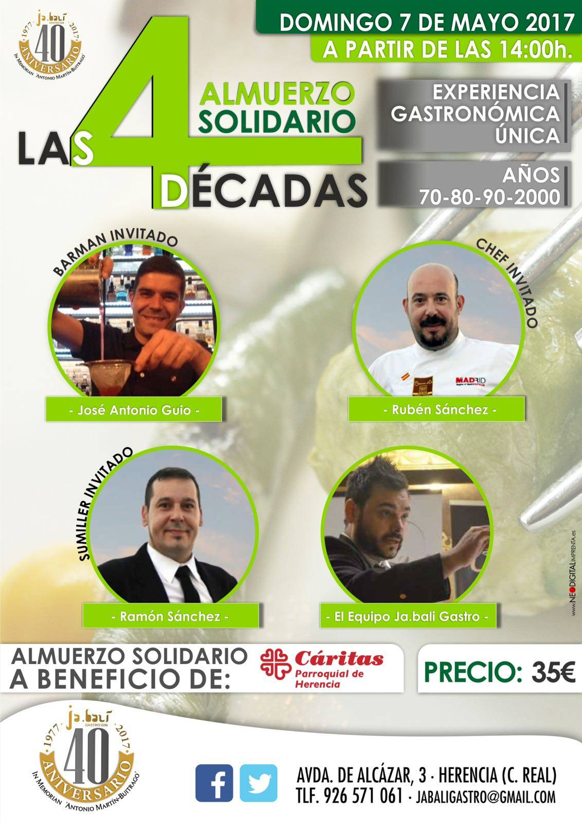 almuerzo solidario herencia - Almuerzo solidario las 4 décadas en Herencia