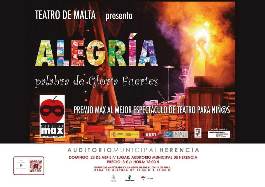 cartel alegria 1068x755 - El próximo domingo 23 de abril,  Herencia disfrutará del espectáculo ALEGRÍA