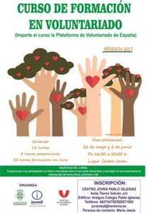 cartel voluntariado 206x300 - Formación en Voluntariado