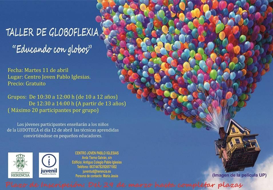 cartel globoflexia - Globoflexia y juegos de estrategia, nuevas propuestas del Centro Joven de Herencia para Semana Santa