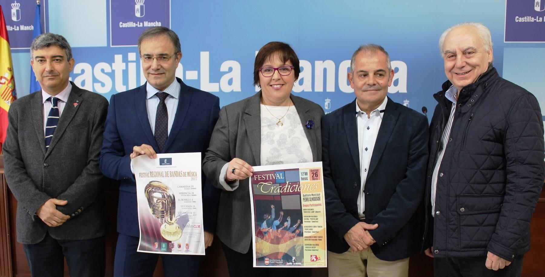 """El Gobierno de Castilla-La Mancha reconocerá la """"labor de difusión cultural"""" que realizan las bandas de música y los grupos folclóricos 3"""