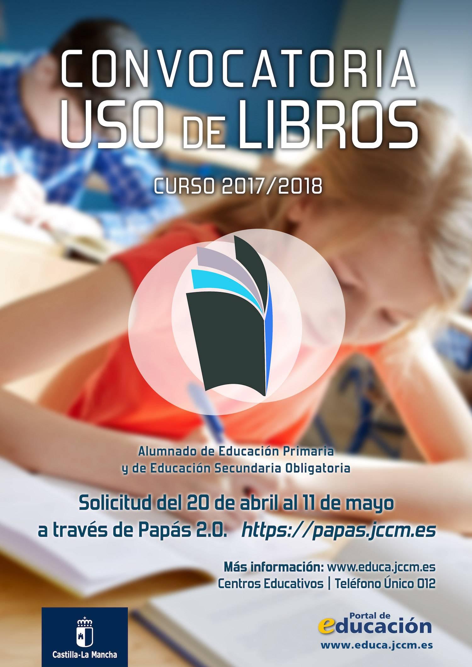 convocatoria uso de libros castilla lamancha - Abierta la convocatoria de solicitud de ayuda de libros para 2017-18