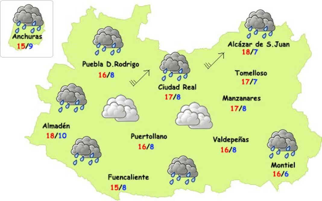el tiempo ciudad real27 04 17 5 1068x665 - El tiempo en Ciudad Real: finde inestable pero menos frío