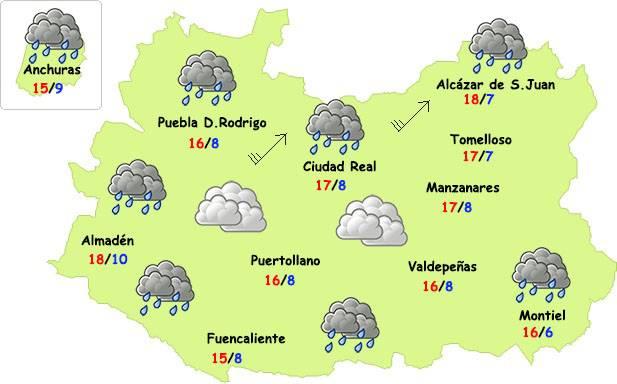 El tiempo en Ciudad Real: finde inestable pero menos frío 3