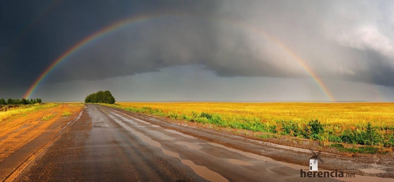 el tiempo lluvias arcoiris campo - Las lluvias dejan hasta 60 litros por metro cuadrado en la provincia