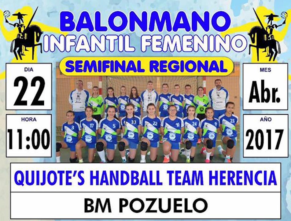 semifinal regional balonmano - Partido de balonmano entre Quijote's Handball y BM Pozuelo el 22 de abril