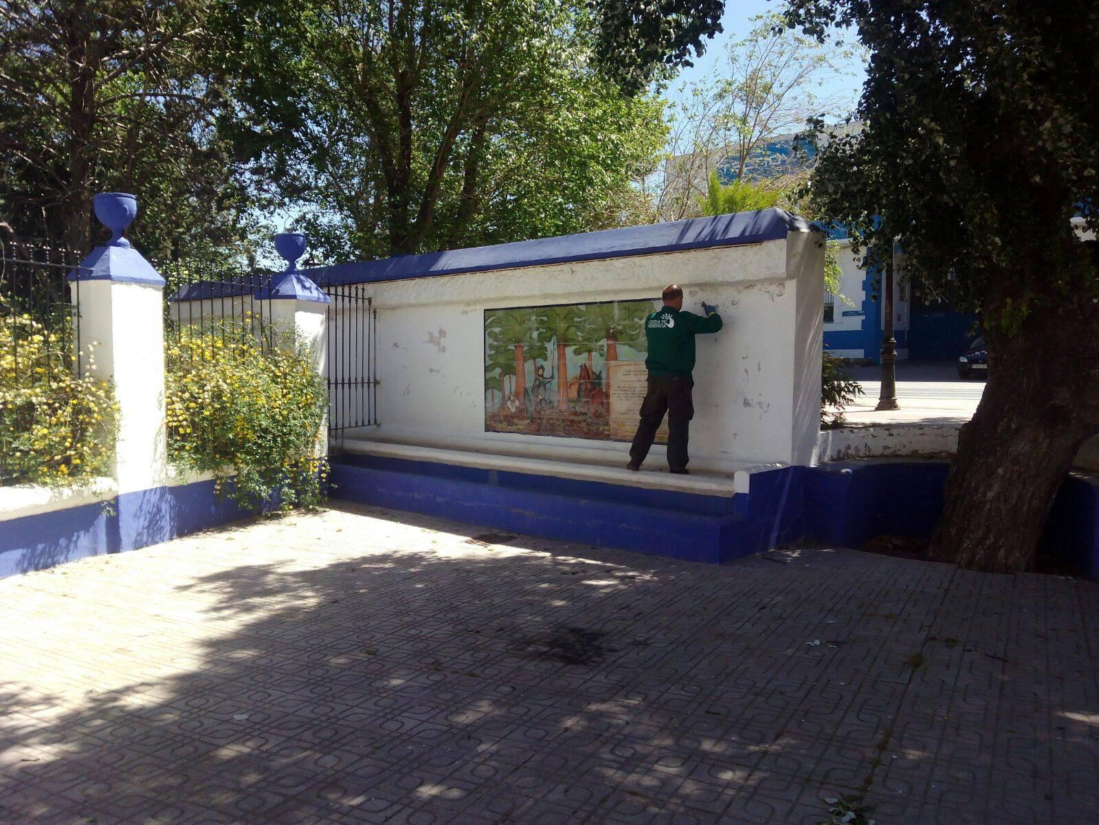 tareas mantenimiento parque municipal herencia - Más mantenimiento del Parque Municipal con la llegada del verano