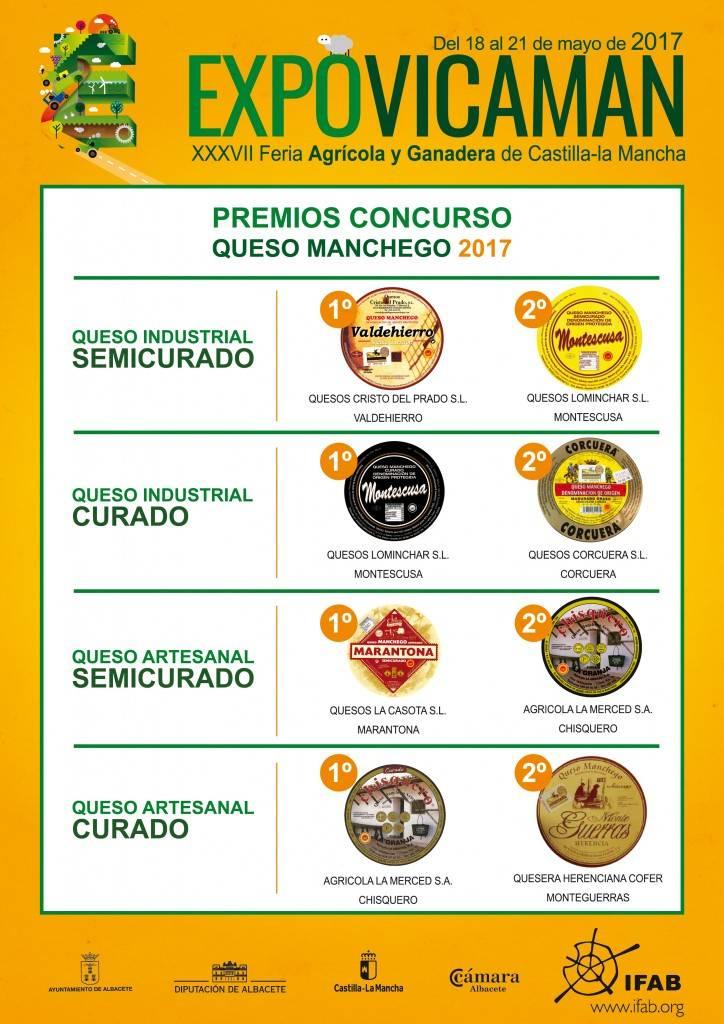 AF quesos A4 01 2 724x1024 - Nuevo reconocimiento para uno de los quesos de la Quesería Cofer (Herencia - Ciudad Real)