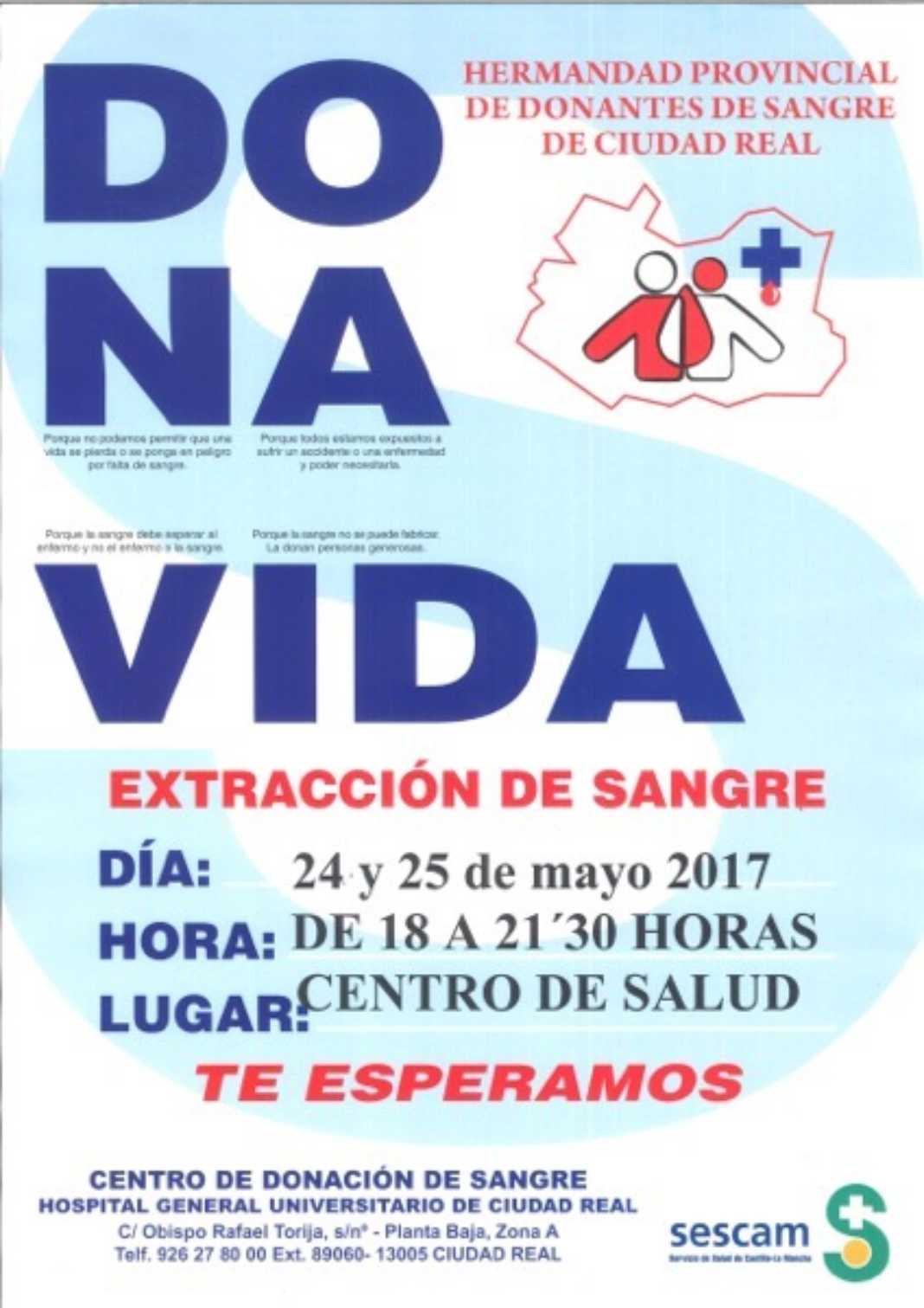 """""""Dona Vida"""", campaña de donación de sangre en Herencia 2"""