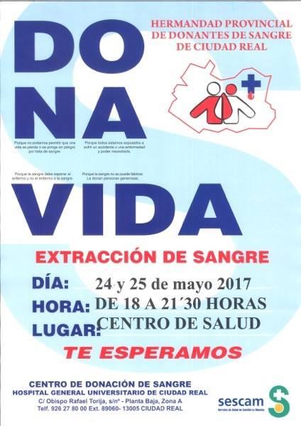 """""""Dona Vida"""", campaña de donación de sangre en Herencia 1"""