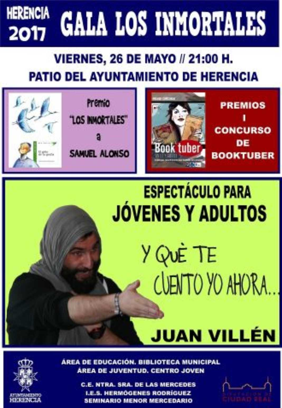 """Cartel clausura Los Inmortales 1068x1544 - Juan Villén actuará en la I Gala """"Los Inmortales"""""""